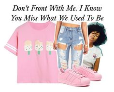 """Don't Front~~"" by be-you-tiful-flower ❤ liked on Polyvore featuring adidas Originals"