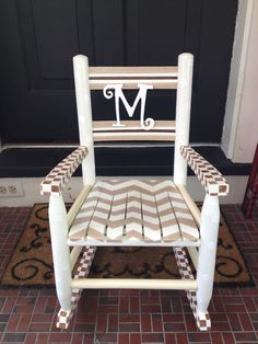 Hand painted rocking chair!