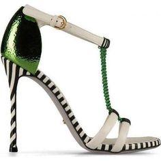 Gwyneth Paltrow wearing Sergio Rossi Pop Chain Mesh Sandals.