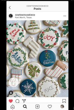 Seven on Sunday - The Enchanted Home Cute Christmas Cookies, Christmas Treat Bags, Christmas Food Gifts, Holiday Cookies, Christmas Candy, Christmas Baking, No Bake Sugar Cookies, Sugar Cookie Royal Icing, Fancy Cookies