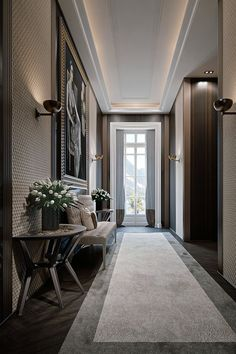 Innovative Suggestions for Dining-room Walls The Ultimate Guide la z boy dining room tables on this favorite site Corridor Design, Foyer Design, Ceiling Design, House Design, Hall Design, Classic Interior, Home Interior Design, Interior Architecture, Hallway Designs