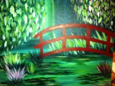 "Monet's Red Bridge--1/2012--Pompano Beach--""Painting with a Twist"""