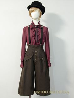MIHO MATSUDA - brown highwaisted pants      14,700円