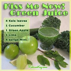 The Green Juice Challenge starts today! I have just taken a photo of my juice, and will share the recipe of the juice I am making. Tomorrow I will start taking pictures of the juicing process, and will try to post almost every day my new juice creation.