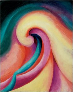 Georgia O'Keeffe, Series I - No. 3, 1918, oil on board