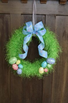 Easter Egg Wreath by RuthieSuzieQs on Etsy, $35.00