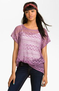 20ca1553a1f6a Chloe K Oversized Lace Tee (Juniors) available at Nordstrom  16... Cream