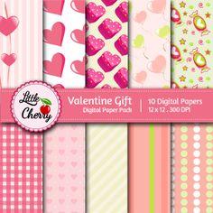 digital papers, digit pattern, gift paper