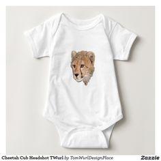 Cheetah Cub Headshot  Baby Bodysuit