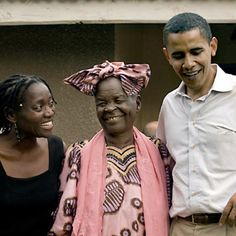 President Obama with his family in Africa