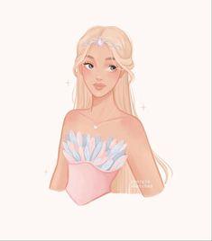 Cute Drawlings, Cute Art, Cute Cartoon, Cartoon Art, Disney Pop Art, Character Art, Character Design, Barbie Drawing, Princess And The Pauper