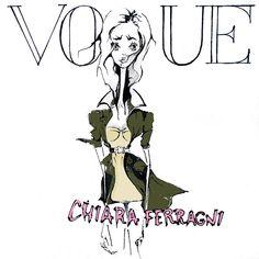 Chiara Ferragni for Vogue spain, illustration by tio.torosyan