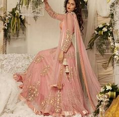 Dusky pink and gold!!