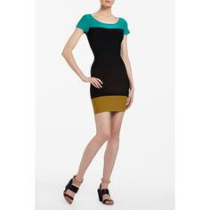 BCBGMAXAZRIA - JACQUETTA COLOR-BLOCKED DRESS - I want this but I think it is a little pricey
