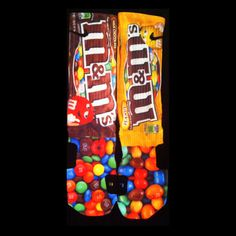 M&M's Parody Custom Nike Elite Socks by LuxuryElites on Etsy, $35.99