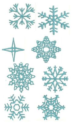 Pattern / Template for Snowflakes — Sketches, Patterns & Templates