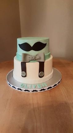 Mustache for a Little Man - Adorable Baby Shower Cakes - Photos