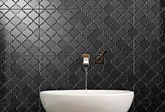 Onyx matte arabesque patterned tile#kitchen #bathroom #onyx #matte #design #decor #interior #exterior #tiles #new #interiordesign #finishes #fixtures #stone #porcelain #floor #wall #arabesque #architecture #architecturemelbourne #australia #brunwsick #defazio #defaziotiles