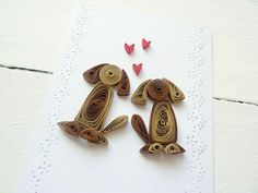 Quilled Card/Quilled Paper Art/Handmade Wedding card | Etsy Paper Quilling Cards, Quilled Paper Art, Paper Quilling Designs, Quilling Patterns, Quilling Ideas, Wedding Cards Handmade, Handmade Birthday Cards, Paper Quilling For Beginners, Quilling Work