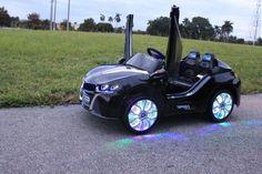 New Sport BMW i8 Style Electric Ride On Car 12V Parenting Wireless RC Black - GarageN1  - 12