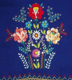 Eastern European Embroidered Vest Poland Slovak ethnic folk costume