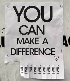 YOU can #makeadifference. at #genuinecaring