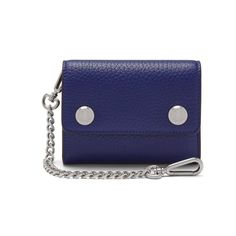 Wallet on Chain | Cobalt Blue Heavy Grain | Men | Mulberry