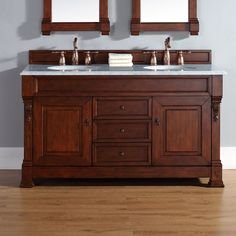 What Is The Best Standard Height Of A Bathroom Vanity  Vessel Mesmerizing Cherry Bathroom Vanity Decorating Inspiration