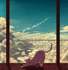 A Purple Cat's Dream by Caring201.deviantart.com on @deviantART