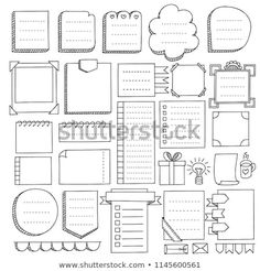 Bullet journal hand drawn vector elements for note. -Bullet journal hand drawn vector elements for note. -Bullet journal hand drawn vector elements for note. Bullet Journal Inspo, Bullet Journal Boxes, Bullet Journal Headers, Bullet Journal Notebook, Bullet Journal Aesthetic, Bullet Journal Ideas Pages, Bullet Journal Vectors, Borders Bullet Journal, Diary Notebook