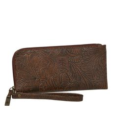 STS Ranchwear Chocolate Floral Clutch at Maverick Western Wear