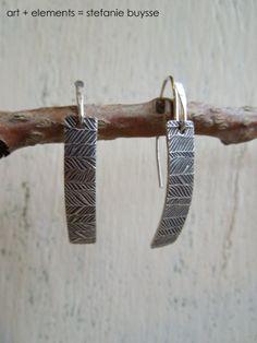 Willow  OOAK Fine Sterling Silver Earrings by ARTandElements, $49.00