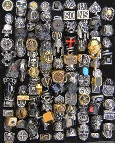 Biker Tattoos, Thigh Tattoos, Cute Wild Animals, Biker Rings, Skull Art, Punk Fashion, Fashion Rings, Tattoos For Women, Jewelry Rings
