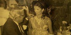 Aristotle & Jackie Onassis on Jackie's 40th birthday  on Skorpios