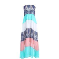 Ethnic Color Block Tube Dress #women, #men, #hats, #watches, #belts, #fashion, #style