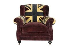 British flag chair...want. Timothy Oulton