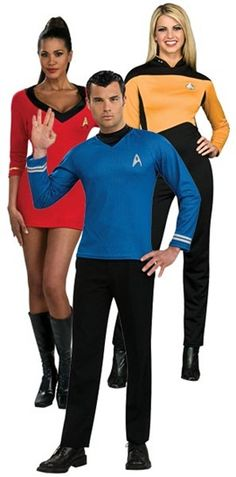 Official Star Trek Costumes. Haha omg is it sad I would actually do this for Halloween.