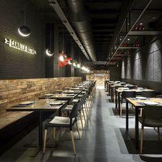 Canalla Bistro • Valencia Valencia, Interior Design Studio, Store Design, Restaurant Bar, Hospitality, Kitchen, Table, Furniture, Katana