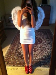 angel costume perfect but with white flats - Halloween Costumes Angel Wings