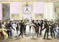 A Society Ball engraved by Charles Etienne Pierre 1819--Musee de la Ville de Paris, Musee Carnavalet, Paris, France