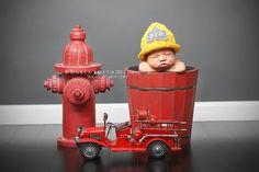 Fireman Hat Newborn  Adult by EternallyHooked on Etsy, $25.00
