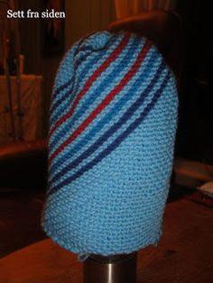 Kari Traa look-a-like lue Beanie Hats, Beanies, Ear Warmers, Knitting Needles, Caps Hats, Headbands, Knitted Hats, Free Pattern, Knit Crochet