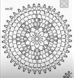 from Crochet motif Crochet Doily Diagram, Crochet Motif Patterns, Crochet Chart, Filet Crochet, Crochet Doilies, Crochet Flowers, Easy Patterns, Crochet Wool, Thread Crochet