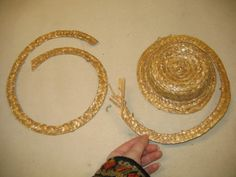 Cheap straw hats cut and reshaped #millinery #judithm #hats