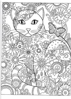 Dover Publications Creative Haven Creative Cats Coloring Book artwork by Marjorie Sarnat Butterfly Flower Abstract Doodle Zentangle Coloring pages colouring adult detailed advanced printable Kleuren voor volwassenen coloriage pour adulte anti-stress Adult Coloring Pages, Cat Coloring Page, Animal Coloring Pages, Printable Coloring Pages, Colouring Pages, Coloring Sheets, Doodle Coloring, Creative Haven Coloring Books, Cat Colors