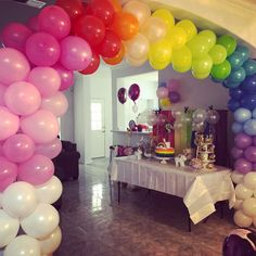 Rainbow arch Rainbow Unicorn Party, Unicorn Birthday, Girl Birthday, Birthday Parties, Art Themed Party, Party Themes, Arch, Bow Braid, Speech Balloon