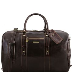 Affiliate  Tuscany Leather TL Voyager Leather travel bag with front pocket Dark  Brown   f3451a5dcf9a7