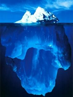 Ice berg - always knew they were 'bigger' under the water but this is amazing !!