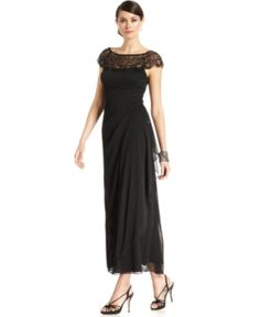 Long Black, Simple Elegance Downton Abbey Style Dress -  Beaded Gown $209.00 More at: http://www.vintagedancer.com/1920s