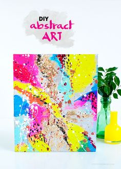 DIY Abstract Art // Love From Ginger